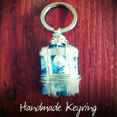 Wire wrapped handmade keyring by Milena Nyx