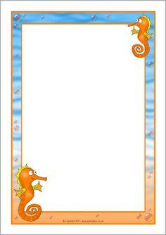 Seahorse A4 page borders
