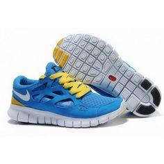 san francisco 95f0a adc14 Mens Nike Free Run 2 Man Shoes Blue Yellow Nike Shox Shoes, Sneakers Nike,