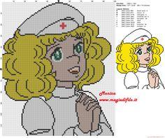 Candy infirmière grille point de croix