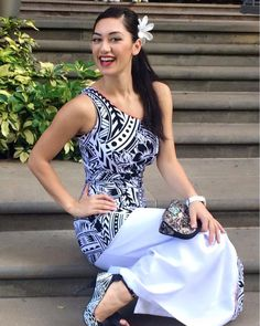 Psssttt did you know?!? @latafale.auvaa #LatafaleAuva'a is a finalist for #MissUniverseNZ please VOTE for her 🙏 To VOTE just click on this… New Dress Pattern, Dress Patterns, Curvy Outfits, Fashion Outfits, Samoan Dress, Island Style Clothing, Island Outfit, Different Dresses, Traditional Dresses