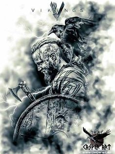 Vikings Ragnar by thecasperart More