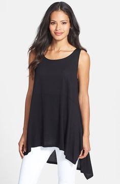 Women's Eileen Fisher Wide Neck Long Jersey Tank