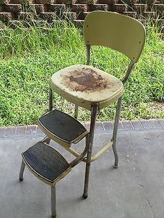 Vintage~Stylaire Metal Step Stool With Pull Out Steps. I Cannot Wait To Fix  Mine Up Omg