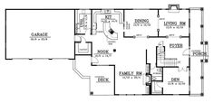 House Plan chp-16144 First Floor