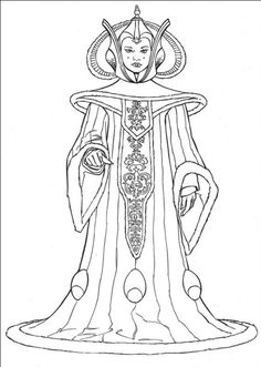star wars queen amidala coloring pages printable and coloring book to print for free. Find more coloring pages online for kids and adults of star wars queen amidala coloring pages to print. Online Coloring Pages, Disney Coloring Pages, Coloring Book Pages, Printable Coloring Pages, Coloring Pages For Kids, Coloring Sheets, Colouring, Mandala Coloring, Star Wars Coloring Book