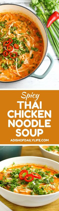 Skip the takeout! This delicious Thai Chicken Noodle Soup is easy to make at home with ingredients you can find in your local supermarket. Best of …   Pinterest