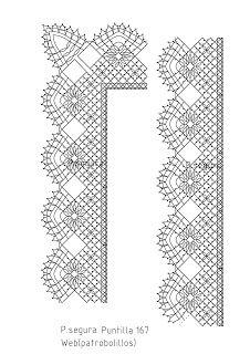 Patrobolillos : PICADOS PUNTILLAS Bruges Lace, Bobbin Lacemaking, Bobbin Lace Patterns, Lace Heart, Crochet Borders, Lace Jewelry, Needle Lace, Tunisian Crochet, Lace Making