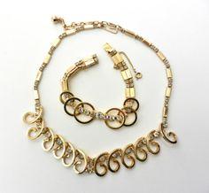 Bright Demi Parure choker & bracelet 1950 Sarah Coventry