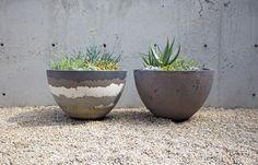concreteworks / 'scrap' concrete metabowls