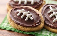 Balones de Fútbol Americano de Galleta de Chispas de Chocolate