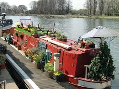To live on a canal boat with a rooftop lawn and garden.