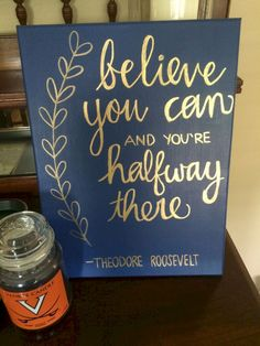 Painting Inspiration Ideas Screens Inspirational Quotes 45 Ideas Source by christi Canvas Crafts, Diy Canvas, Gold Canvas, Canvas Paper, Do It Yourself Inspiration, Little Presents, Sorority Crafts, Chalkboard Art, Painting Inspiration