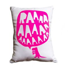 Freddy Alphabet RAAAAA Dinosaur Cushion - Fluro Pink - Freddy Alphabet - Shop by Brand - Ragamuffins New Zealand