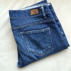 """Paige """"Melrose"""" Straight Leg Jeans Reposhing because they are too big. 32.5"""" inseam. 17"""" across the waist laying flat. 98% cotton, 2% Lycra. Slight whiskering and distressing. NO TRADES. Paige Jeans Jeans Straight Leg"""