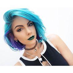 Short Blue Hair