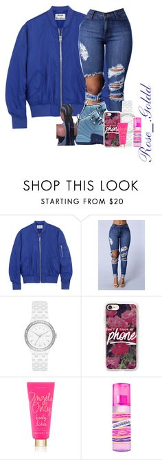 """Happy New Year Eve."" by shacoraduhh ❤ liked on Polyvore featuring Acne Studios, DKNY, Casetify, Victoria's Secret, Sessions and Justin Bieber"