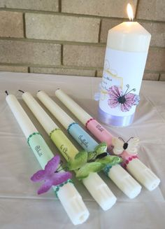 Candles for naming day – Wedding For My Life Wedding Table, Wedding Ceremony, Wedding Day, Asking Bridesmaids, Wedding Bridesmaids, Trendy Wedding, Wedding Gifts, Wedding Planning Boards, Wedding Planner Checklist