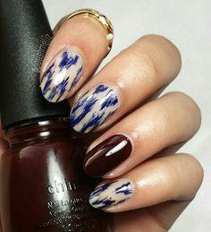 Ikat easy and cute nail design China Glazed prey tell