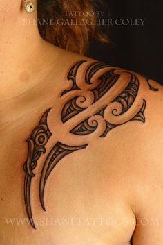 SHANE TATTOOS - Maori girl