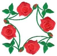 Rose Decor Squares Small - Aljay Designs   OregonPatchWorks