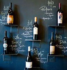 Wall Wine Menu