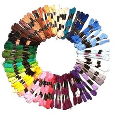 150X8M Assorted Cotton Embroidery Thread Skeins by Kurtzy TM * Be sure to check out this awesome product.