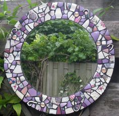 Mosaic mirror by Renske Hoekstra, 2013 www.renskehoekstra.nl