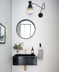 The Best Paint Color in Every Room of Athena Calderone's Brooklyn Home Interior Design Studio, Home Interior, Bathroom Interior, Bathroom Trends, Interior Livingroom, Kitchen Interior, Bathroom Ideas, Brooklyn Kitchen, Floating Sink