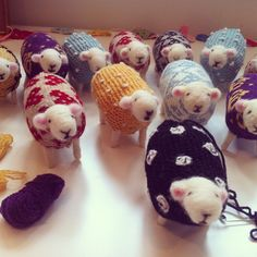Finishing touches being made to colourful flock, all ready for new homes