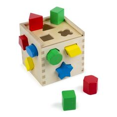 Classic Shape Sorting Cube Educational Toys For Toddlers, Learning Toys, Toddler Learning, Activity Toys, Sorting Activities, Toddler Activities, Activity Cube, Toddler Toys, Kids Toys