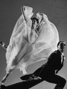 Tony and Sally Demarco, Ballroom Dance Team, by Gjon Mili