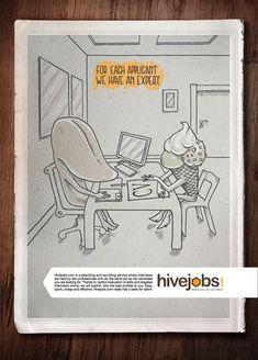 hivejobs tongue recruitment marketing