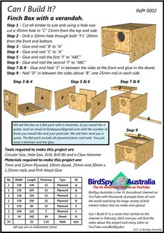 This simple finch nest box design has worked well for me for a few years now. I have had Long-tailed, Zebra and a few other species use it but you will need to test it with the species you keep to. Bird Nesting Box, Nesting Boxes, Finch Bird House, Bluebird House Plans, Finch Cage, African Lovebirds, Conure Bird, Diy Bird Cage, Vivarium