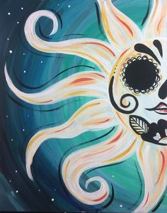 Cute Canvas Paintings, Easy Canvas Painting, Mini Canvas Art, Painting & Drawing, Body Painting, Sugar Skull Artwork, Sugar Skull Painting, Sugar Skull Wallpaper, Sugar Skulls