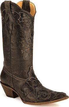 Corral Lizard Inlay Western Boots