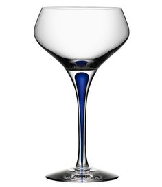 From Orrefors&& this Intermezzo Champagne coupe features& by Erika LagerbielkeCrystalDistinctive blue drop in the stemApprox& W x HCapacity approx& 7 oz& Imported& Crystal Champagne, Summer Drinks, Blue Crystals, Dillards, Wine Glass, Pantone Color, Erika, Closets, Drop