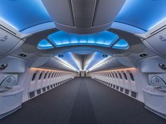 The Jumbo Jets Boeing and Airbus Turn Into Posh Private Planes | A hollowed-out Boeing 787, ready for a custom layout of couches, desks, and bedding.  Boeing  | WIRED.com