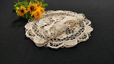 Handmade Needle Lace Placemats Doilies, Set of 3, 3x27cm/3x10.6in Hardanger Embroidery, Handmade Table, Point Lace, Needle Lace, Cotton Thread, Doilies, Birthday Gifts, Crochet Earrings, Delicate