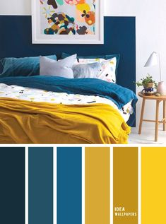 10 Best Color Schemes for Your Bedroom { Blue + Mustard } mustard color bedroom grey color palette&; 10 Best Color Schemes for Your Bedroom { Blue + Mustard } mustard color bedroom grey color palette&; Color Schemes Colour Palettes, Best Color Schemes, Living Room Color Schemes, Color Schemes For Bedrooms, Apartment Color Schemes, Bedroom Colour Palette, Bedroom Colors, Home Decor Bedroom, Blue Colour Palette