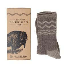 Cold Feet? // Bison down is softer than cashmere and warmer than wool. United By Blue spent years making the perfect sock from it.