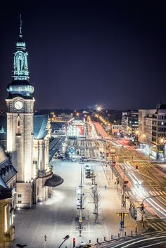 Trainstation at night, Luxembourg