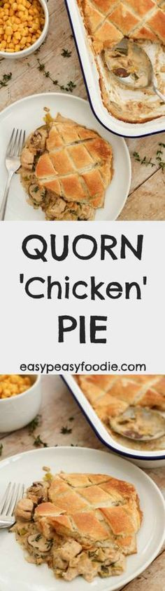 Extra Off Coupon So Cheap Easy to make and totally delicious this Quorn Chicken Pie is a lovely vegetarian alternative to a roast dinner but is quick enough to make on a busy weeknight too. Quorn Recipes, Veggie Recipes, Kid Recipes, Savoury Recipes, Veggie Food, Yummy Recipes, Chicken Recipes, Recipies, Dinner Recipes