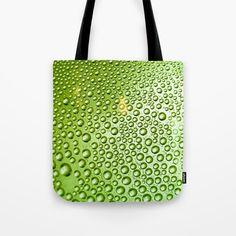 Green water drops Tote Bag by karidesign Water Drops, Poplin Fabric, Hand Sewn, Original Artwork, Stress, Reusable Tote Bags, America, Stitch, Sewing