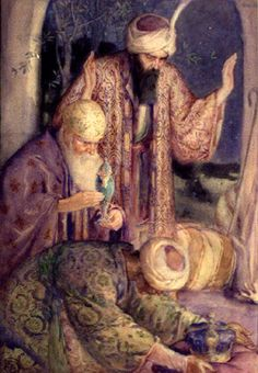 Gifts of the Magi, ca. 1912, Christmas Card by Greetings from Other Worlds on Etsy ($3)