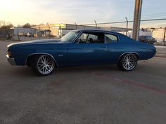 72 chevelle brushed mesh modulare wheels ss pro touring blue