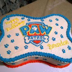 Paw patrol bone cake!