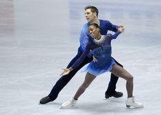 Vanessa James and Morgan Cipres - ISU World Team Trophy 2013  LOVE the blue!