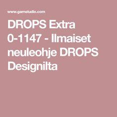 DROPS Extra 0-1147 - Ilmaiset neuleohje DROPS Designilta