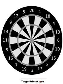 Printable Dart Board Shooting Target